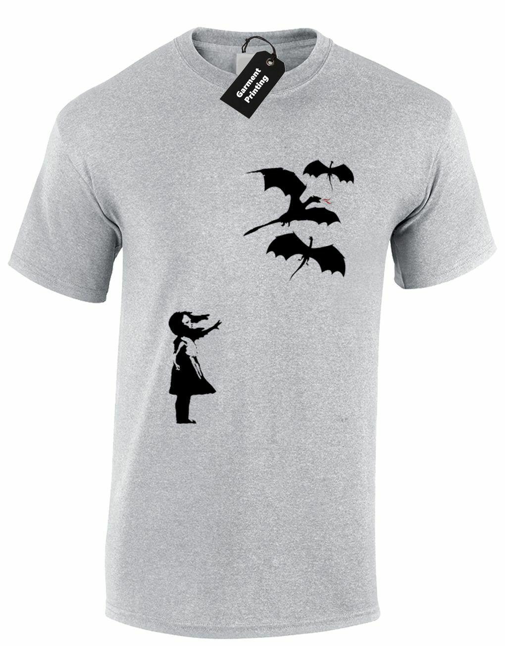 DRAGON BANKSY hommes t-shirt COOL drôle jeu de TYRION DAENERYS trônes JON SNOW 2019 mode t-shirt, Hip Hop t-shirt drôle