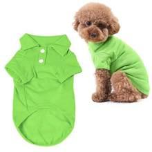 6dfc779c48d8 Newest Cute Pet Puppy Polo Shirt Small Dog Cat Pet Clothes Costume Apparel T -Shirt