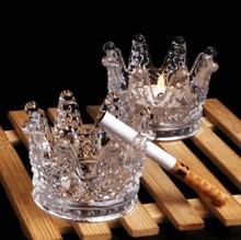 Creative Cystal Ashtray Fashion Living Room Decoration New Personality Handmade Crown Glass Candlestick Home Furnishings LFB426