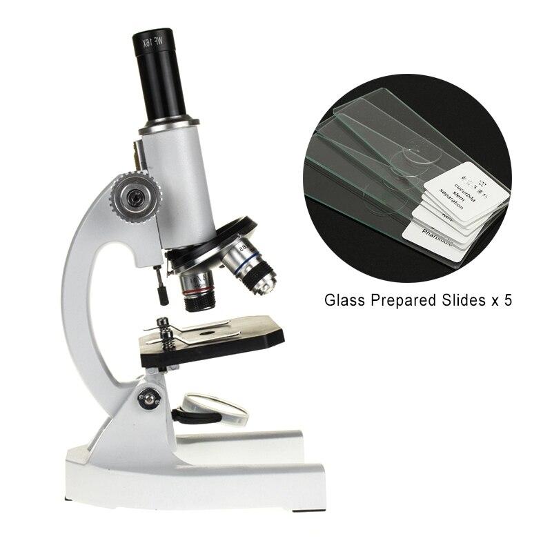 Profissional Microscópio Biológico 64X-1600X Estudantes Microscópio de Laboratório De Ciências Da Educação
