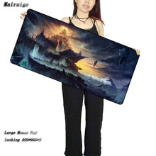 Mairuige Free Shipping Fantasy House Scenery High Speed New Large Black Lockedge Rubber Mousepad Version Gaming Mousepads