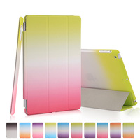 Rainbow Stand Leather Case For Apple IPad Mini 1 2 3 Silk Slim PU Front Plastic