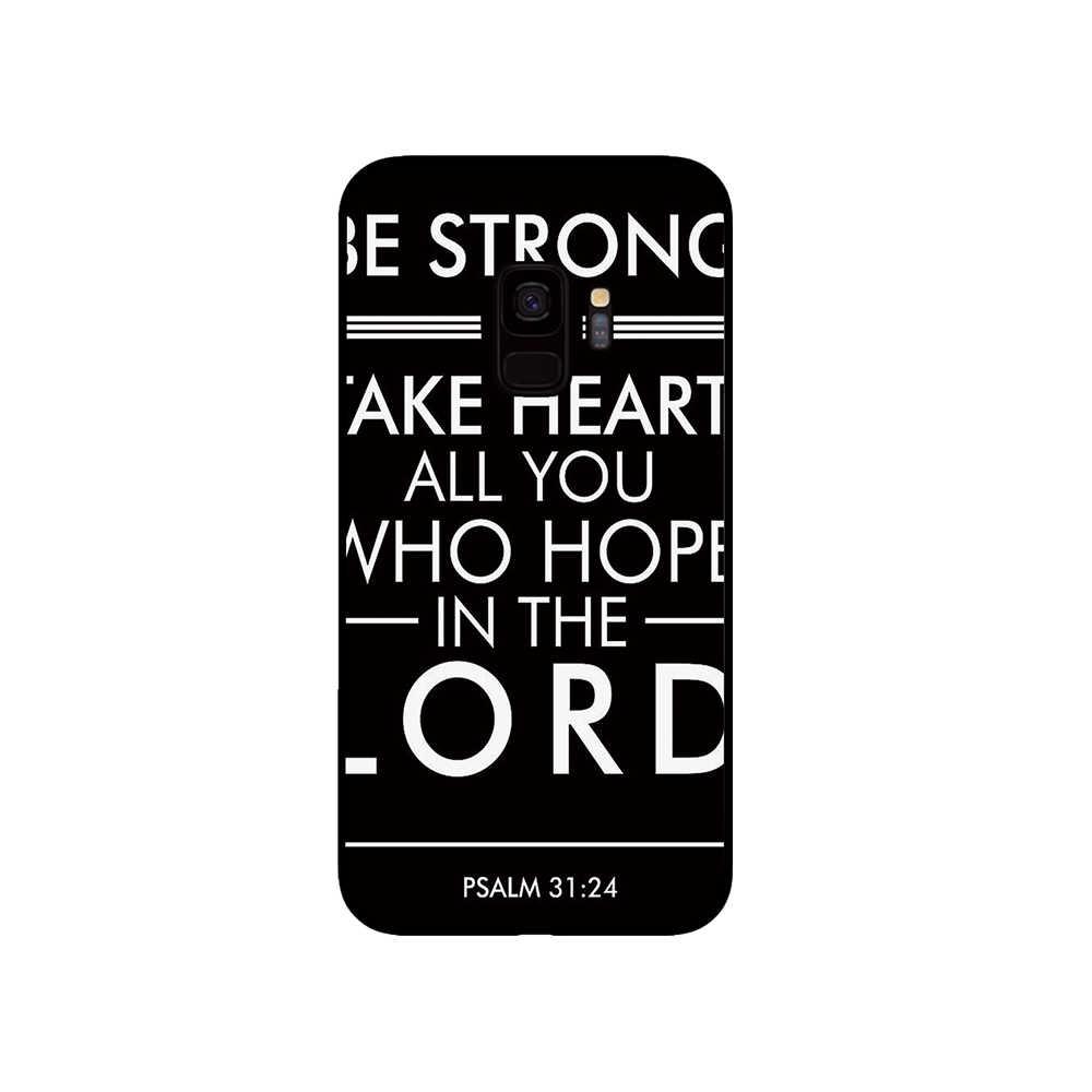 Духовная стена Библейские стихи искусство черный чехол ТПУ для samsung Galaxy S10 S10E S8 Plus S6 S7 Edge S9 S10e PlusNote 8 9