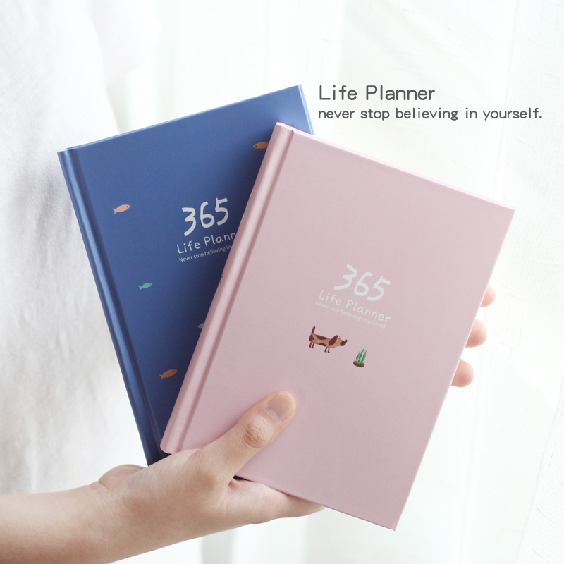 2018 Planner Notebook 365 Days Personal Diary Weekly Planner Note book Organizer School Stationery Cactus Agenda Journal Notepad retro color 365 days notebook gift diary note book agenda planner material escolar caderno office stationery supplies gt108