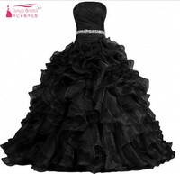 Quinceanera Dresses vestidos de 15 anos Crystal Ruffle Lace Up On Back Ball Gown cheap quinceanera dresses