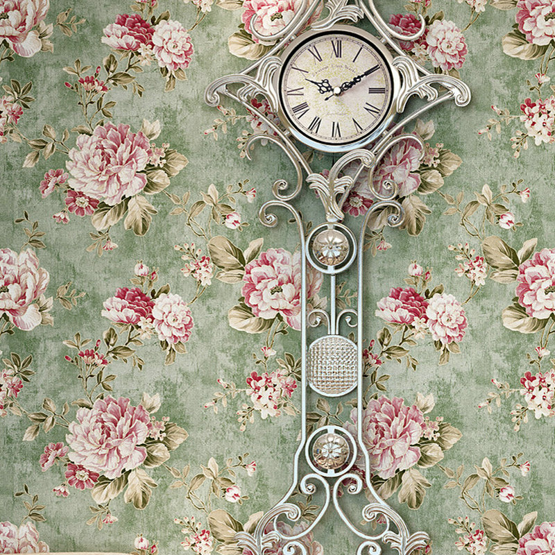 3D Wallpaper Pastoral Romantic Flowers Non-Woven Wall Paper Living Room Bedroom Wedding House Backdrop Wall Home Decor 3D Tapety beibehang embossed american pastoral flowers wallpaper roll floral non woven wall paper wallpaper for walls 3 d living room