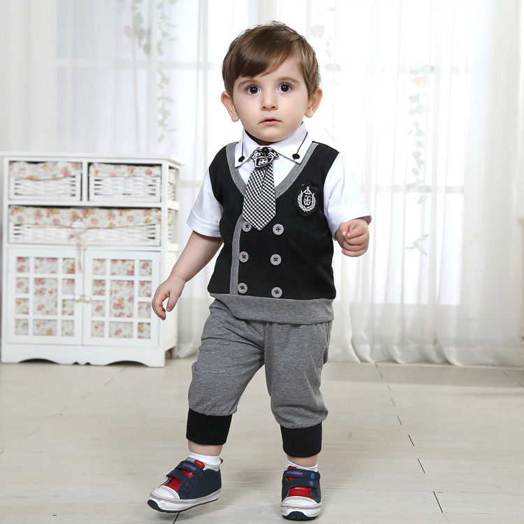 Infant formal dress male child baby set baby summer male ...