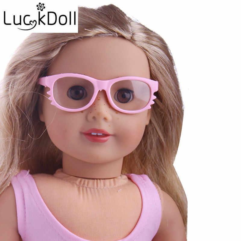 """Luckdoll Kính Mát Khung Đầu cho 18 """"Búp Bê American, Trẻ Em của Tốt Nhất Khách Sạn Holiday Quà Tặng"""