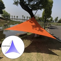 High Quality 3*3*3m Outdoor Garden Sun Shade Sails Net Cloth 90% UV Block Water Resistant Sun Canopy Patio Awning Garden Party