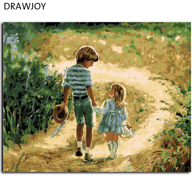 Framed Picture Painting By Numbers DIY Canvas Oil Painting Home ...