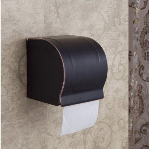 Oil Rubbed Bronze Toilet Paper Holder Wall Mount Tissue Box