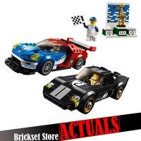 Lepin 28004 395 Sztuk Racer Car Racing Prędkości Mistrzów Zestaw Building Blocks Oświecić Cegły Zabawki dla Dzieci Prezent Na Boże Narodzenie 75881