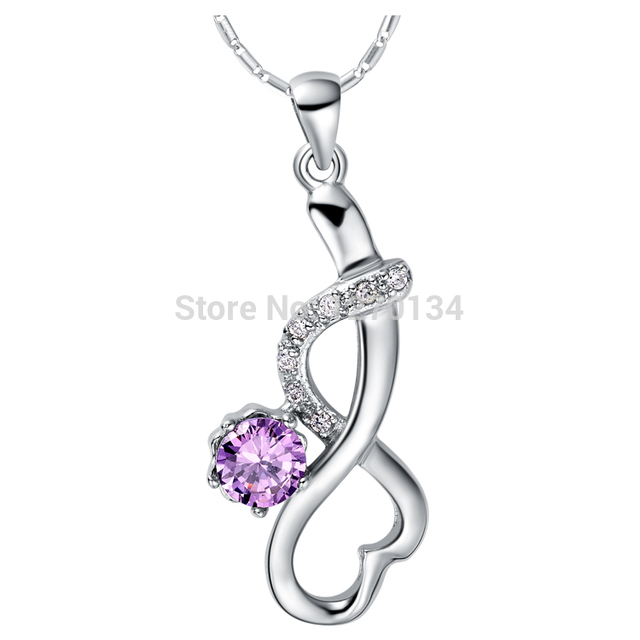 New design fashion trendy women necklace noble shining crystal new design fashion trendy women necklace noble shining crystal arabic number 8 pendant 18 k plated aloadofball Choice Image