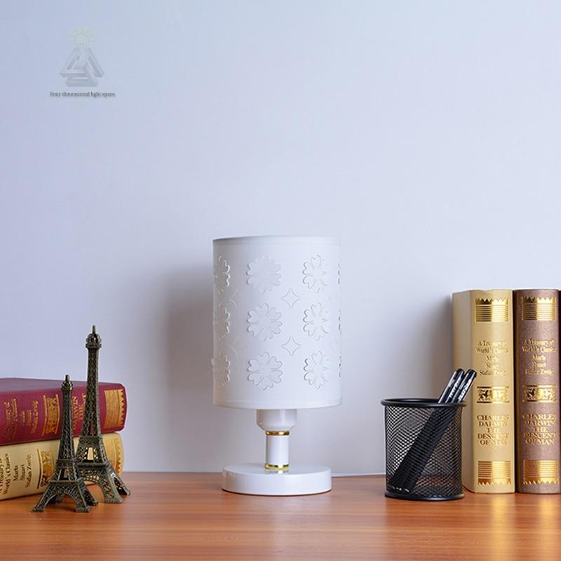 E27 lamp holder cheap Creative small size original fabric patterns table light switch mini table lamp home decoration lighting meja kecil untuk kamar