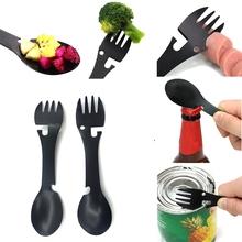 Outdoor Tablewares multifunctional Cook Fork Bottle Opener Portable Spoon camping outdoor hiking Safety & Survival Tools