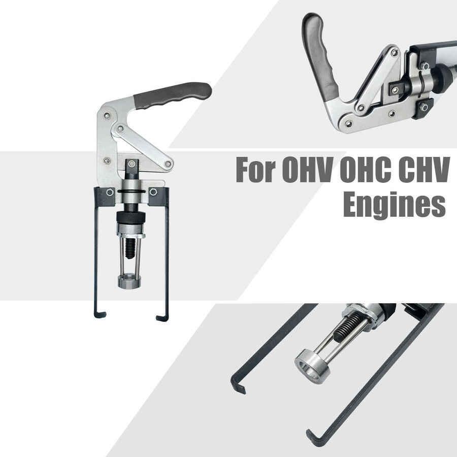Compressore a molla per valvole strumento di rimozione universale per compressore a molla per valvole sopraelevate Installa strumento per motori OHV OHC CHV Sigillo di ricambio Sostituisci