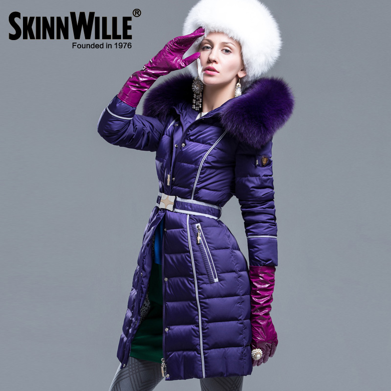 Fashion high quality 2017 thickening large fur collar coat medium-long female new arrival 2017 winter new arrival female medium long down coat thickening large fur collar women s fashion women coat