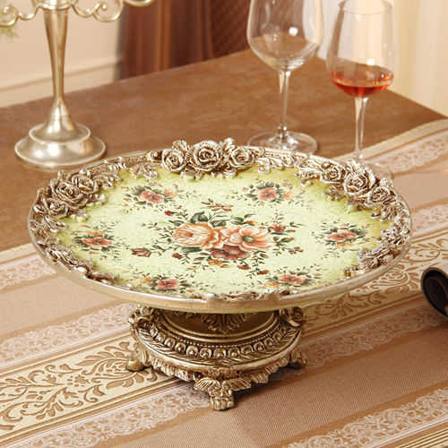 Continental retro luxury dried fruit dish large living room table decoration Home Furnishing housewarming gift
