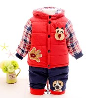 New 2017 Baby Boys Winter Clothing Suit Set Warm Down Jacket Pants Long Sleeve Coat Kis