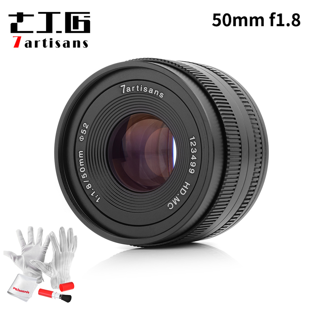 7artisans 50mm F1 8 Large Aperture Manual Focus Prime Cameras Lens for Sony E mount Micro