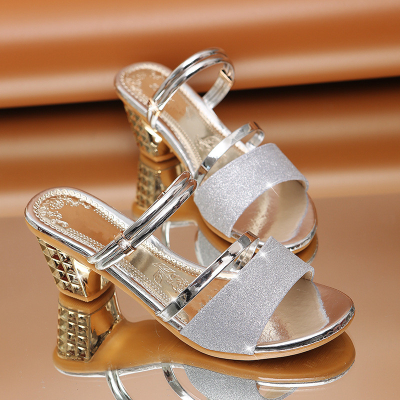 HTB173k0aIrrK1RjSspaq6AREXXa4 Woman Sandals Shoes Slippers 2019 Summer Style Wedges Pumps High Heels Slip On Bling Fashion Gladiator Shoes Women