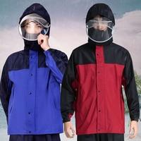 Adults Long Transparent Raincoat Waterproof with Hood Women Men Cover Coat Womens Rain Coats Impremiable Sets Rain Suit LZO285