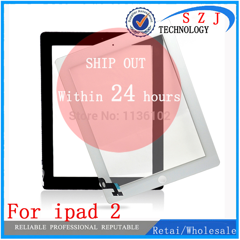 New 9.7'' Inch For Ipad 2 Ipad2 A1395 A1396 A1397 Glass Touch Screen Digitizer Touch Panel With Button Free Shipping