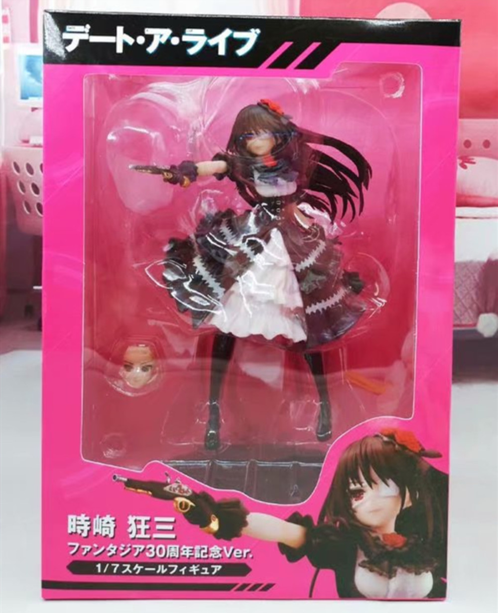 Anime Date A Live Nightmare Tokisaki Kurumi Action Figure Fantasia 30th Anniversary Figurine PVC Model Doll Girl Gift Toys PM 4