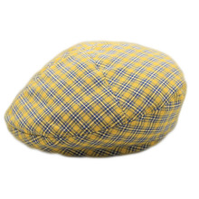 SUOGRY 2019 New Red Plaid Cotton Flat Cap For Men Spring Summer Women Beret Hat Male Female British Style