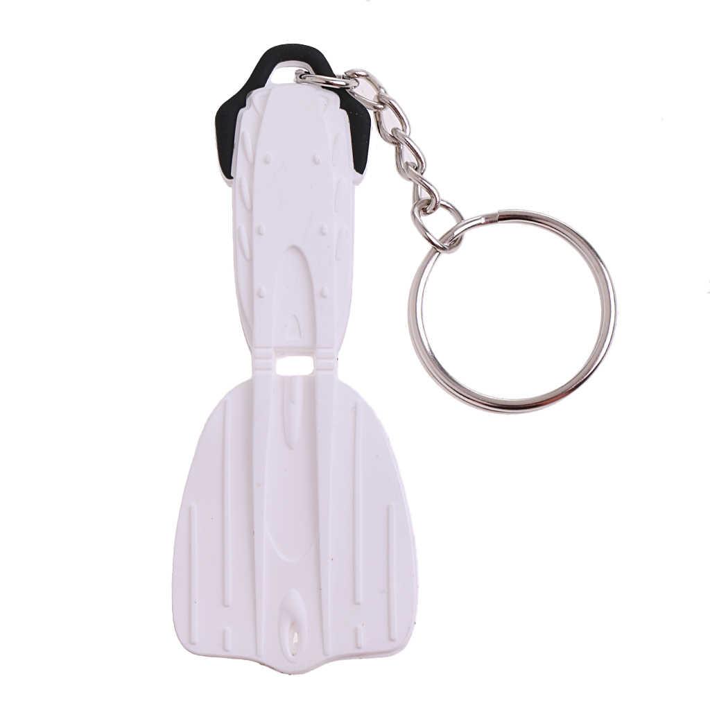 زعنفة صغيرة كيرينغ الغوص غواص حمام سباحة زعنفة على شكل تعويم مفتاح سلسلة المفاتيح