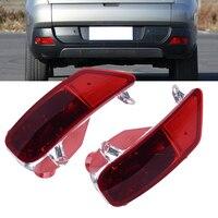 DWCX 2Pcs Red Left Right Rear Tail Bumper Fog Light Lamp Cover Case Shell For Peugeot 3008 2009 2010 2011 2012 2013 2014 2015