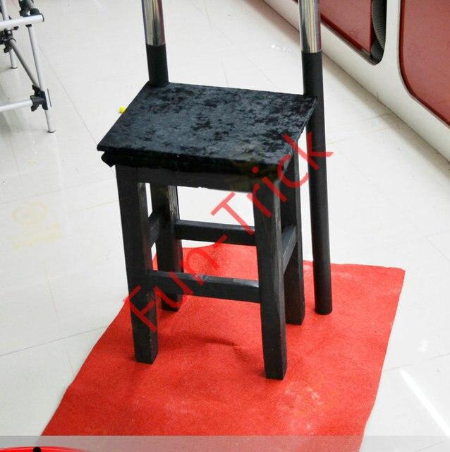 folding chair jokes rustic office stool levitation illusion magic trick illusions in gags