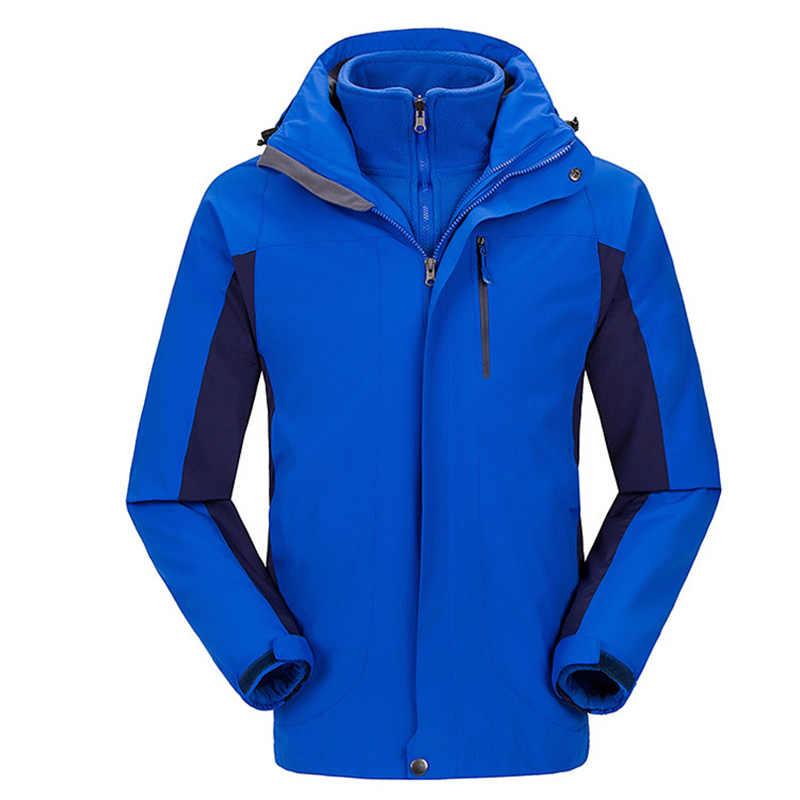 冬の屋外スポーツキャンプウインドブレーカージャケット男性サーマルフリース防水ハイキングジャケット男性狩猟服