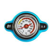 0.9-1.3BAR Car Radiator Cap Cover Temperature Gauge 0-200 degree Celsius Meter Industrial Aluminum Large/Small Head