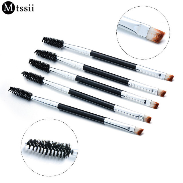 Mtssii Brand Double Eyebrow Brush+Eyebrow Comb beauty cosmetic brush eyebrow makeup brushes for eyeBrow Brush blending eye