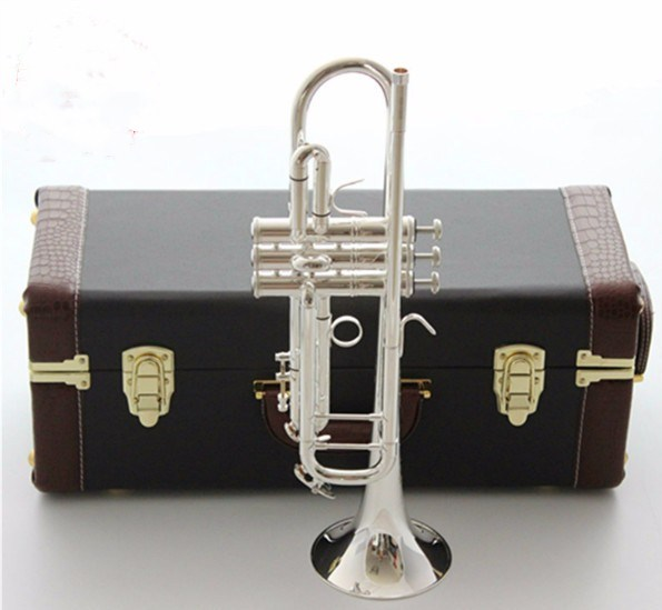 Free shipping New Genuine Americano Top trumpet gold and silver plated AB-190S  Musical instruments B flat trumpet professional trumpet mouthpiece set silver plated 4 sizes convertible 7c 5c 3c 1 1 2c