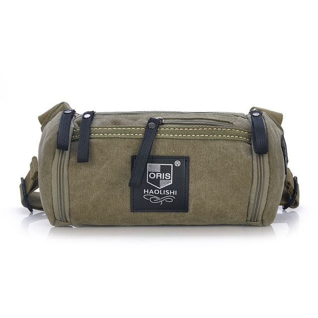 Canvas Waist Pack Bag For Men And Women Travel  Casual European and American Fashion Style