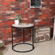 Industrial simple wind modern minimalist metal  round tea table living room sets three leisure tea table retro coffee table