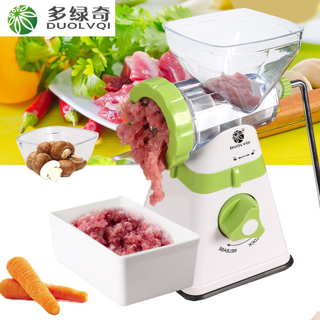 DUOLVQI,New Household Multifunction Meat Grinder, Stainless Steel Blade,Vegetable/Spice Hand-cranked Meat Mincer,Kitchen tools2