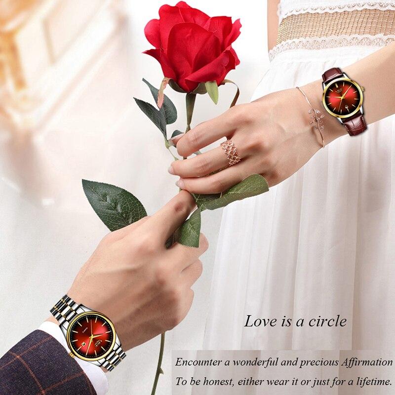 a010be19e324 Nuevo en este momento relojes para hombre de moda Casual reloj de pulsera  para hombres par reloj ...
