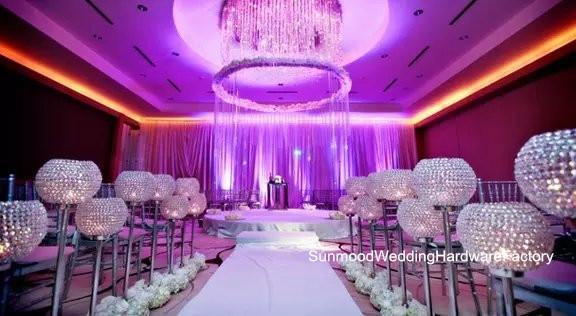 High Quality Crystal Diamond Wedding Aisle Decor