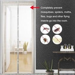 1PC użytku domowego moskitiera magnesy drzwi brama owadowa siatki skrzydełkowe z magnesami na drzwiach magnesy siatkowe 5 rozmiar|mosquito net|mosquito net curtainsmosquito curtain netting -