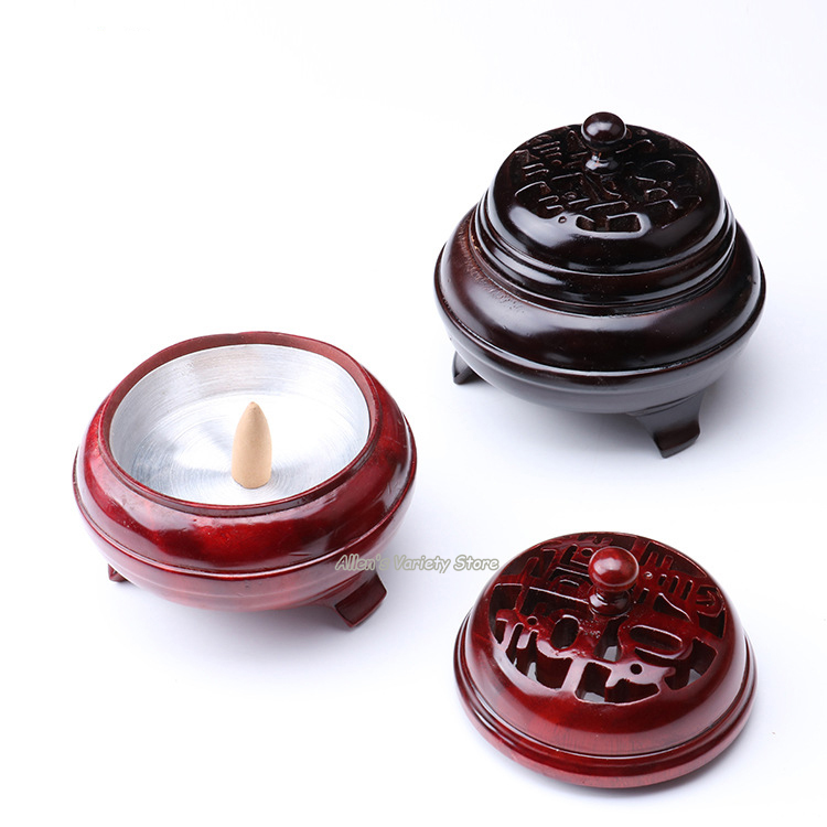 Incense Towers Wooden Burner Vietnamese rosewood furnace Solid wood Coils incense Censer Thurible Coil Incense burner Incensory