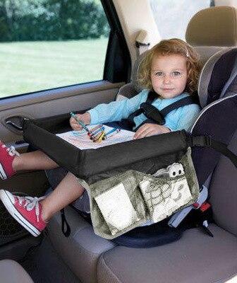 Children Car Seat Tray Waterproof Storage Children Toy