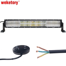 weketory 7D 10LED DRL 22 inch 200W LED Work Light Bar for Tractor OffRoad 4WD 4×4 Truck SUV ATV Spot Flood Combo Beam 12V 24v