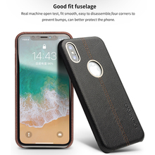 QIALINO Ultra Slim Genuine Leather Case for iPhone X