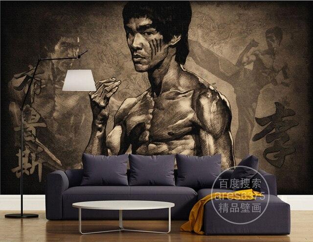Classic Wallpaper Bruce Lee Wall Murals Kung Fu Photo Bedroom Martial Arts Room Decor Living