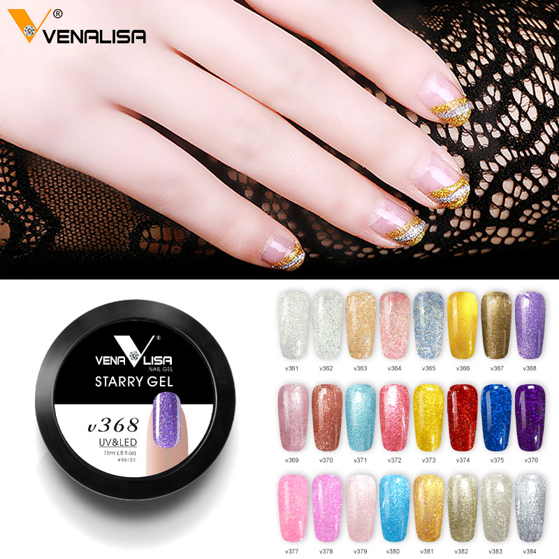 24pcs/set 15ml Starry Gel Varnish Professional Nail Art Manicure Soak Off UV LED Bling Color Gel Nail Art Design Drawing Gel
