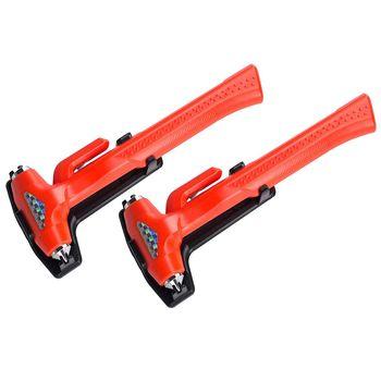 Martillo de seguridad de coche, rompeventanas, martillo de Herramienta de Escape de Emergencia, 3 en 1, resistente para coche, SUV, camión (9,1 pulgadas, brillante o