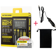 Nitecore D4 D2 جديد I4 جديد I2 digicharge LCD ذكي ليثيوم أيون AA 18650 14500 16340 26650 سريع شحن البطارية/سيارة تهمة D5